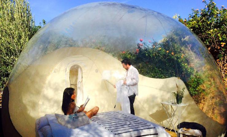 maroc dormir dans une bulle la belle toile a vous. Black Bedroom Furniture Sets. Home Design Ideas