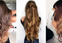 cheveux longs brillants