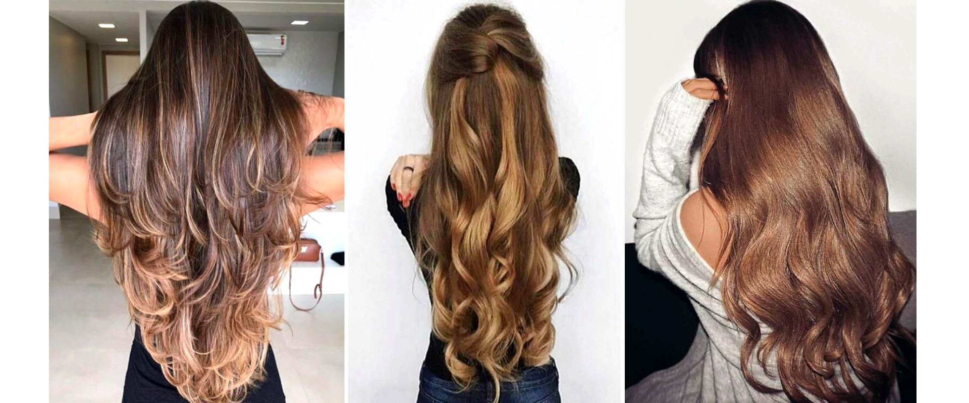 cheveux longs brillants