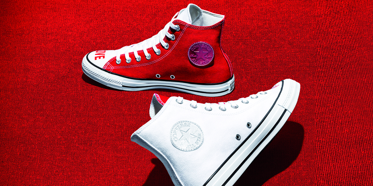 chaussure converse hautefille basket rouge
